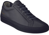 Common Projects Men's Achilles Leather Low-Top Sneakers, Navy