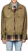 Fear Of God Men's Distressed Cotton Denim Trucker Jacket