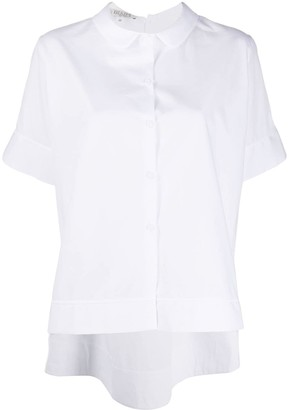 Bi494 Peter Pan collar boxy shirt
