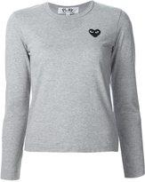 Comme des Garcons chest patch longsleeved T-shirt - women - Cotton - XS