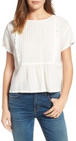 Current/Elliott Women's The Pintuck Ruffle Top