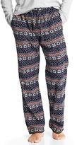Gap Flannel fair isle sleep pants