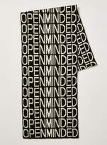 Topman Black and White 'Open minded' Scarf