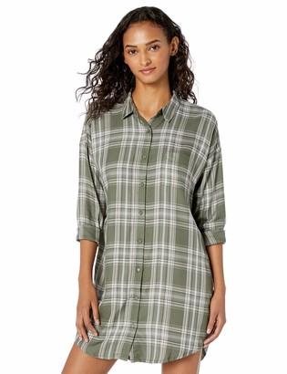 PJ Salvage Women's MAD for Plaid Night Shirt
