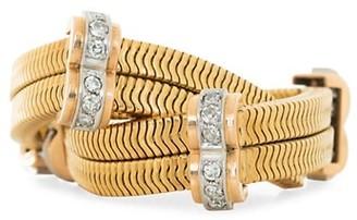 Stephanie Windsor Vintage 18K Yellow Gold & Diamond Flexible Serpentine-Link Bracelet