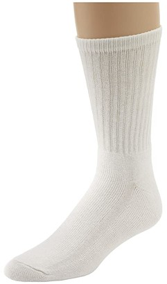 Wigwam Super 60 Crew 3 Pack (White) Crew Cut Socks Shoes