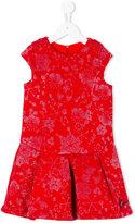 Kenzo metallic pattern dress - kids - Cotton/Spandex/Elastane - 2 yrs