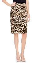 Vince Camuto Women's Animal Print Pencil Skirt