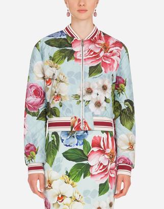Dolce & Gabbana Floral-Print Nylon Bomber Jacket