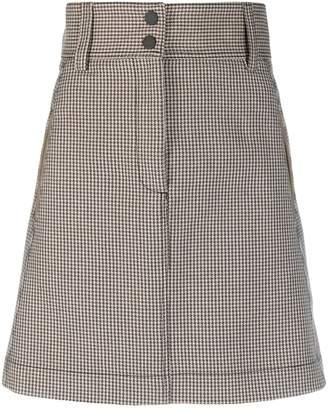 Sandro Paris houndstooth print a-line skirt