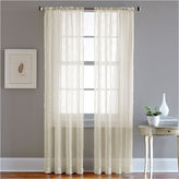 CHF Pintuck Sheer Rod-Pocket Curtain Panel