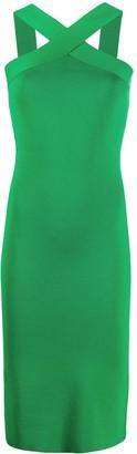 P.A.R.O.S.H. Halter Neck Slim-Fit Dress