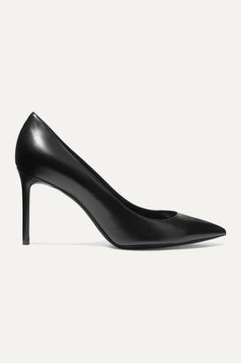 Saint Laurent Anja Leather Pumps - Black