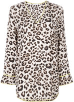 Equipment leopard print blouse