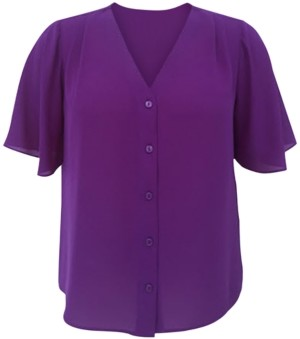 Alfani V-Neck Blouse, Created for Macy's