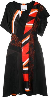Koché Multi-Panel Dress