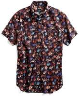 Todd Snyder Short Sleeve Floral Print Button Down Shirt