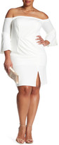 ABS by Allen Schwartz Off-The-Shoulder Dress (Plus Size)