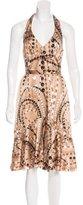 Trina Turk Silk Bead Print Dress