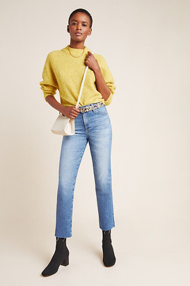 AG Jeans The Isabelle High-Rise Cropped Straight Jeans By in Blue Size 25