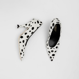Burberry Dalmatian Print Calf Hair Pumps