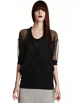 Clu Sheer Elbow-Sleeved Cardigan