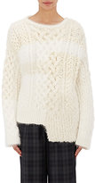 TOMORROWLAND Women's Cable-Knit & Bouclé Sweater-WHITE