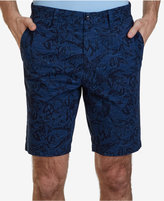 "Nautica Men's 9.5"" Inseam Tonal Leaf Print Shorts"