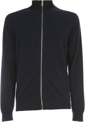 Paul Smith Merino Wool Full Zipped Cardigan