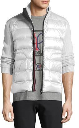 Moncler Men's Zip-Front Down Puffer Sweater