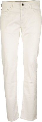 Jacob Cohen Five Pockets Trousers In Cotton And Silk