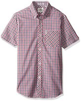 Ben Sherman Men's Short Sleeve House Check Button Down Shirt