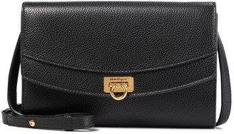 Salvatore Ferragamo Gancini leather clutch