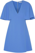 Alice + Olivia Alice Olivia - Krysta Cape-back Crepe Mini Dress - Azure