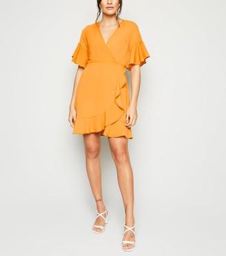 New Look AX Paris Frill Wrap Dress