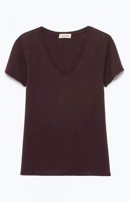 American Vintage Jacksonville T Shirt - XS / Silex/Flint - Brown/Grey