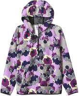 Joe Fresh Women's Floral Active Popover, Purple (Size M)