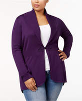 Karen Scott Plus Size Clasp-Front Cardigan, Created for Macy's