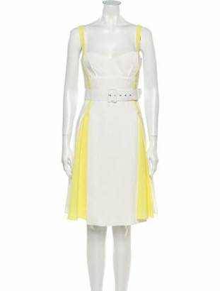 Emilia Wickstead 2019 Knee-Length Dress w/ Tags Yellow