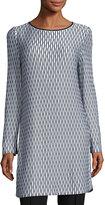 Misook Long-Sleeve Printed Knit Tunic, Multi, Plus Size