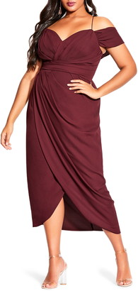 City Chic Entwine Ruched Dress