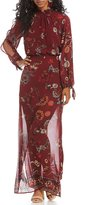 Takara Border Hem Paisley Floral Printed Maxi Dress