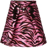 Kenzo 'Tiger Stripes' skirt - women - Silk/Cotton/Acrylic/Wool - 36