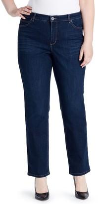 Bandolino Plus Size Mandie Classic Straight-Leg Jeans