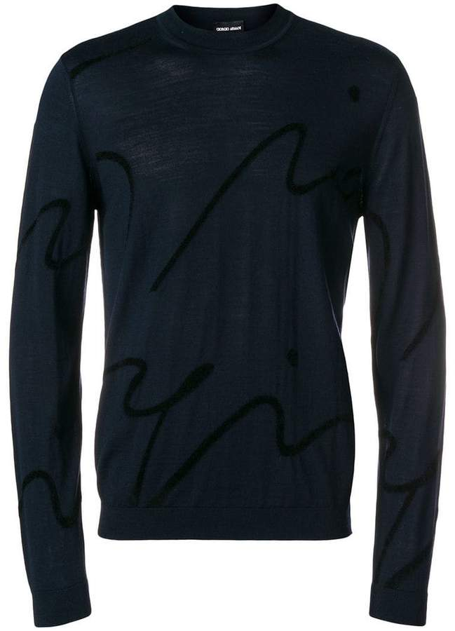 Giorgio Armani abstract design sweater