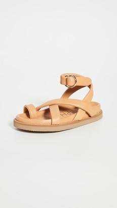 Joseph Thin Leather Wrap Sandals