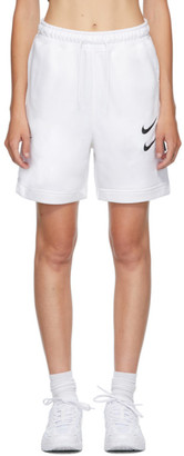 Nike White NSW Swoosh Shorts