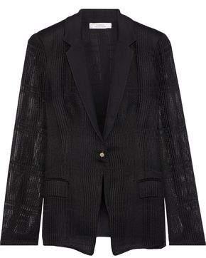 Versace Open-knit Blazer