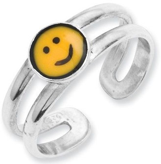 Sterling Smiley Face Toe Ring