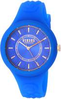 Versus By Versace Women's 'FIRE ISLAND' Quartz Stainless Steel and Silicone Casual Watch, Color: (Model: SOQ150017)